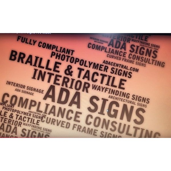 ADA compliance braille tactile signs