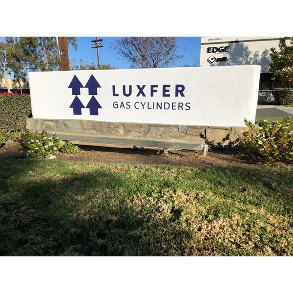 Monument sign for Luxfer Gas Cylinders, Riverside, CA  Image360 Corona