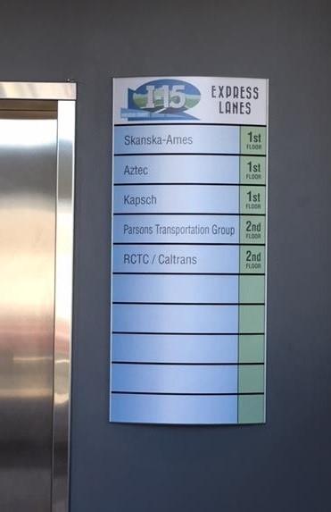Custom Directory Sign for I-15 Express Lanes, Corona, CA