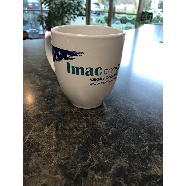 Custom mug for IMAC Construction