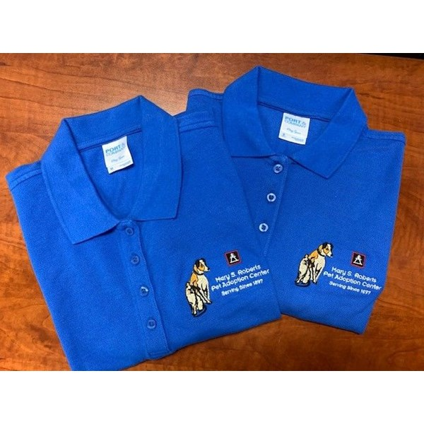 Polo shirts for Mary S. Roberts Adoption Center in Riverside, CA
