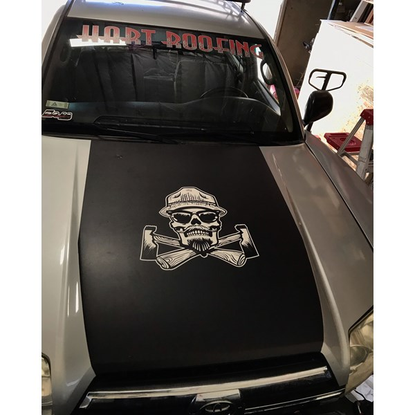Vehicle decal for Hart Roofing in Corona, CA