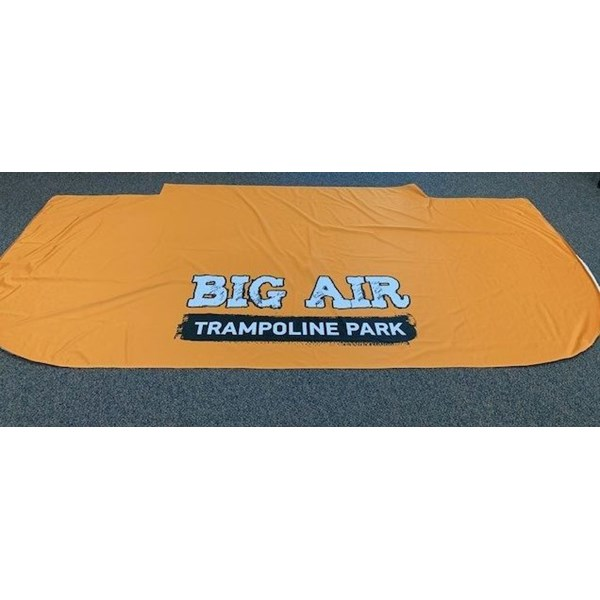 Table throw for Big Air Trampoline Park in Corona, CA