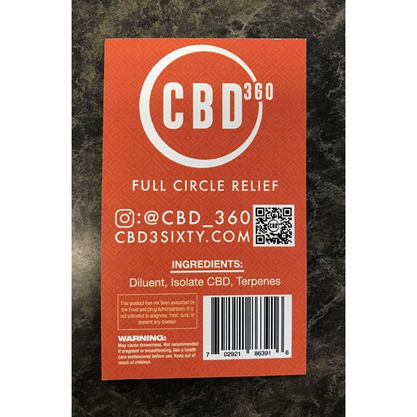 Product labels for CBD360