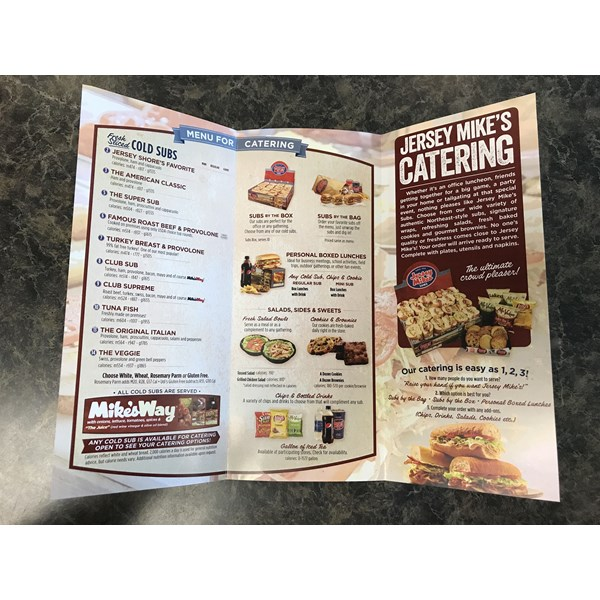 Brochure for Jersey Mikes Subs