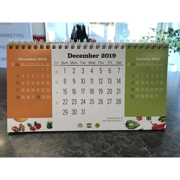 2020 calender for VegFresh