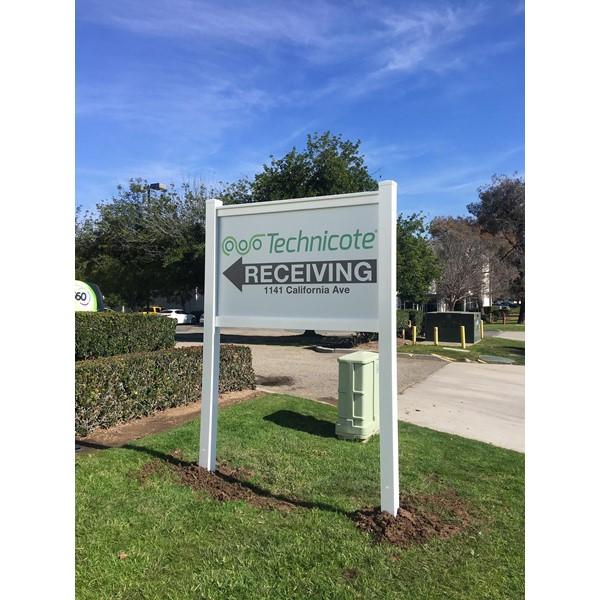 Post & Panel Sign for Technicote in Corona, CA