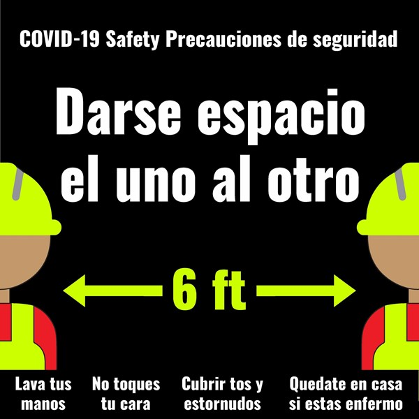 COVID-19 Signage in Spanish from Image360 Corona