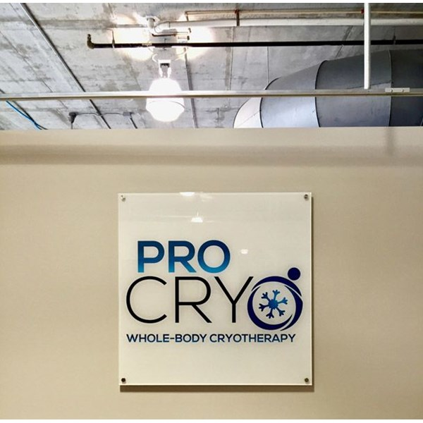 Pro Cryo - Custom Back-Mounted Print on Acrylic with Stand-offs. Indoor Sign