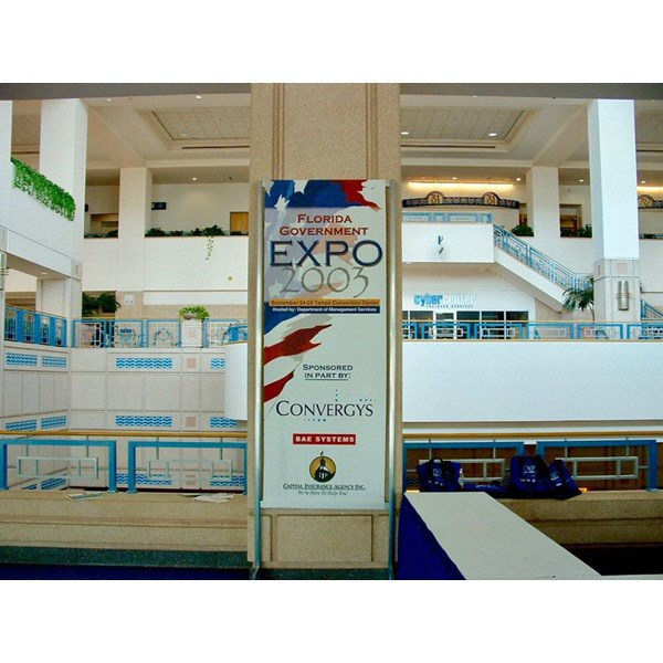 Custom Banner Made to Fit Customer Provided Frame for Florida Government 2003 Expo