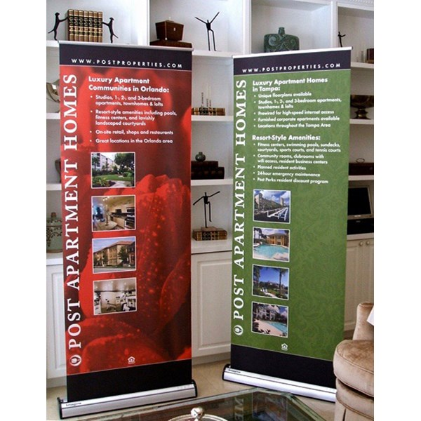 Custom Retractable Banner Stand for Post Properties to Advertise Apartment Homes