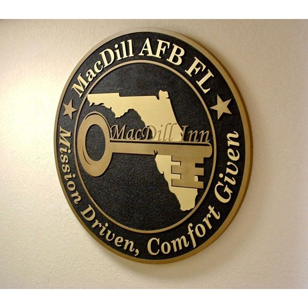 Custom Engraved and 1 1/2 Sand Blasted Plaque for MacDill Air Force Base Inn