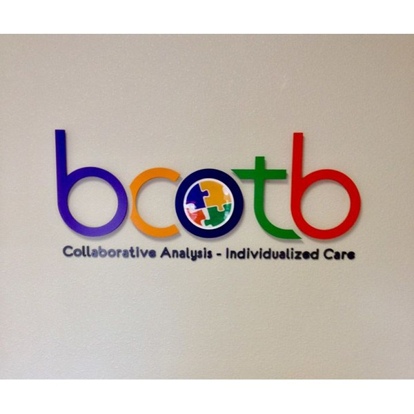 bcotb -  Custom Indoor Sign with 1/2 PVC Dimensional Letters Painted to Logo Specifications