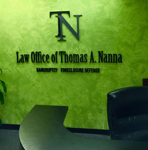 TN Law Office - Custom Indoor Sign with 1/2 PVC Dimensional Letters Painted to Logo Specifications