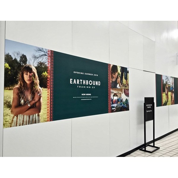 Custom Indoor Wall Mural with Vinyl Graphics for a Mall