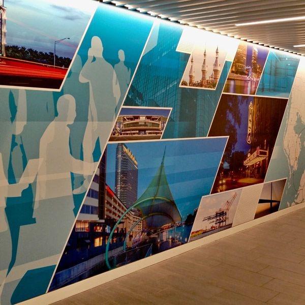 Custom Indoor Wall Mural Graphics for Cushman Wakefield
