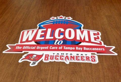 Tampa Buccaneers - Custom Indoor Engraved Directory with Etched Vinyl Graphic