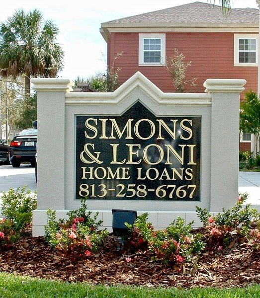 Custom Single-Sided Monument Sign in South Tampa