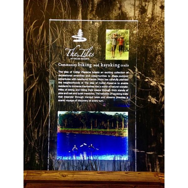 The Isles Custom Backlit Acrylic Display