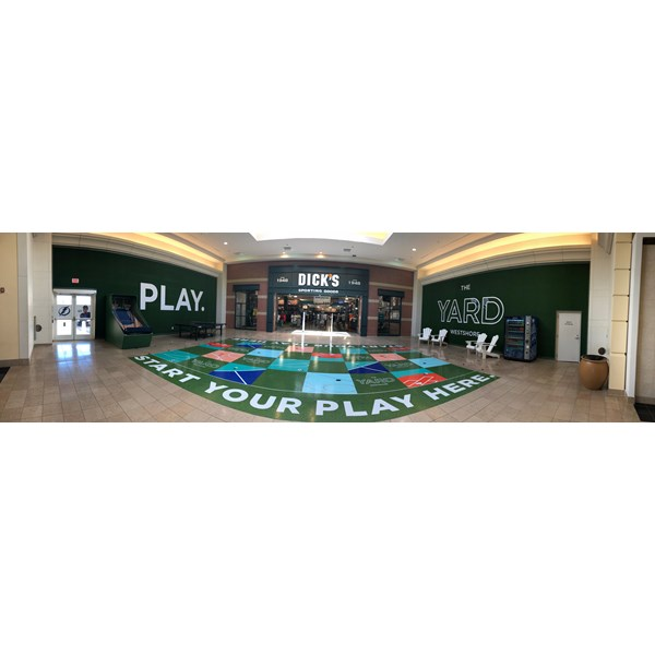 Westshore Plaza Indoor Play Area with Wall and Floor Graphics