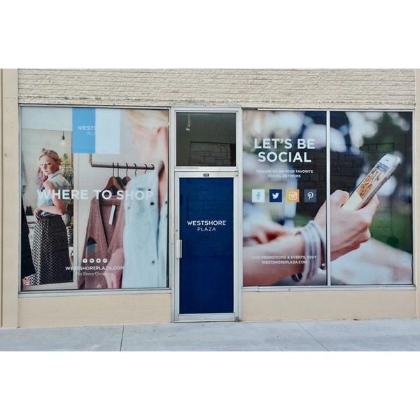 Custom Window Vinyl Graphics for Westshore Mall, Tampa