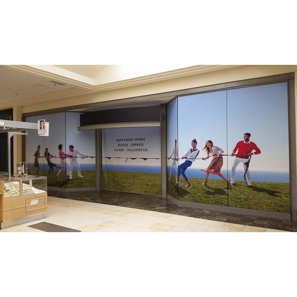 Custom Window Graphics inside Mall