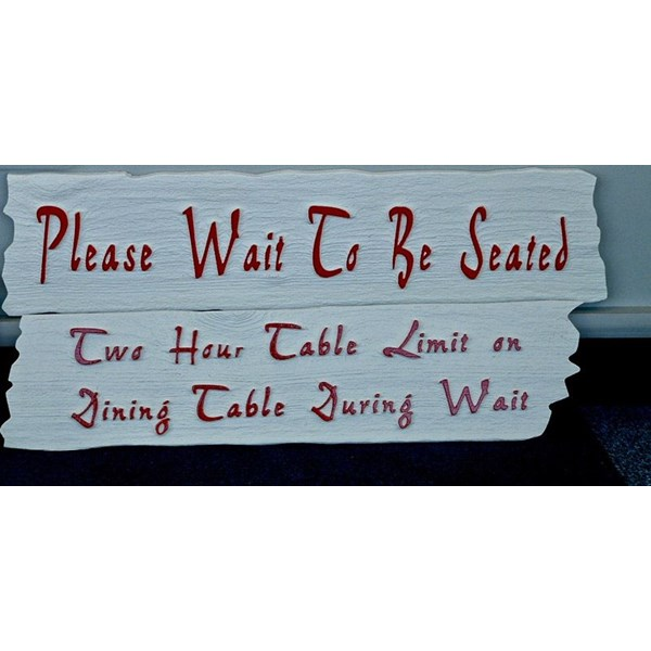 Custom Engraved Restaurant Sign with Drift Wood