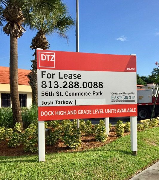 Custom For Lease Post and Panel Sign