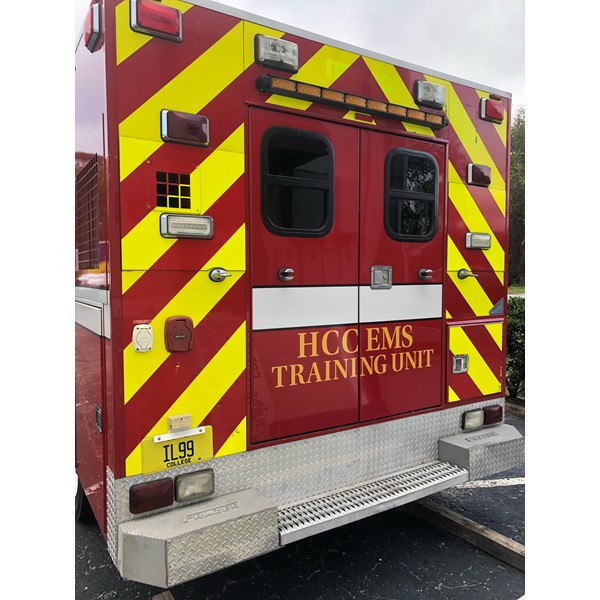 HCC Custom Vinyl Lettering for Training Ambulance