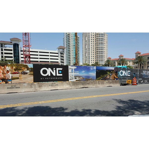 Mesh Banner for Construction Fence